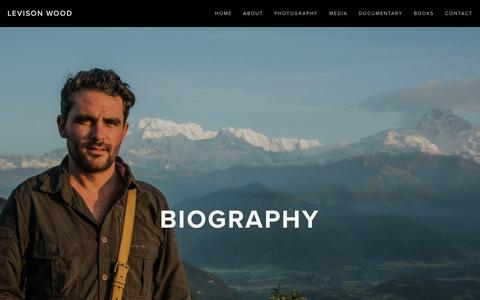 Screenshot of About Page levisonwood.com - Biography — Levison Wood - captured March 23, 2016