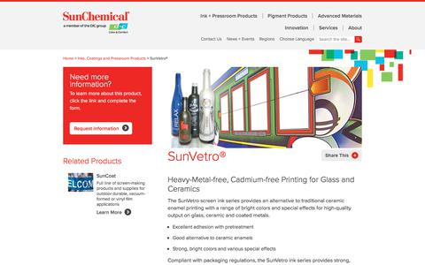 Screen Ink | SunVetro | Sun Chemical