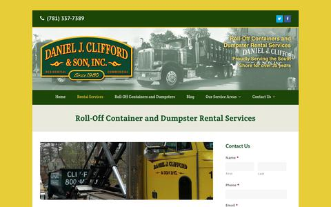 Screenshot of Services Page cliffordcontainers.com - Roll-Off Container & Dumpster Rental Services in Weymouth, MA | Daniel J. Clifford & Son Dumpster Service - captured July 8, 2018