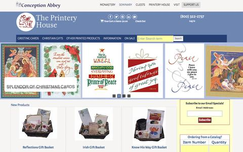 Screenshot of Home Page printeryhouse.org - Christian Greeting Cards, Christmas Cards & Gifts | Religious Greeting & Birthday Cards | Catholic Mass & Prayer Cards - The Printery House - captured Nov. 16, 2017