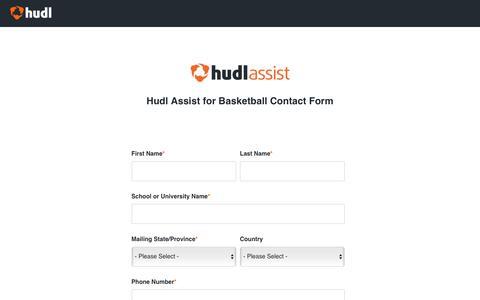Hudl Assist Basketball - Contact Form