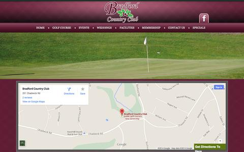 Screenshot of Maps & Directions Page bradfordcc.com - Prefer more directions to the Bradford Country Club? - (978) 372-8587 - captured Oct. 5, 2014
