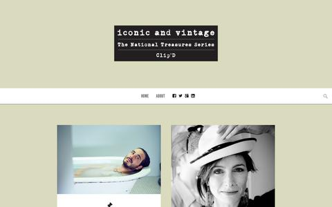 Screenshot of Home Page iconicandvintage.com.au - Iconic and Vintage | Interviews, Photography and Short Films with National Treasures - captured June 7, 2017