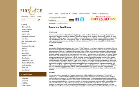 Screenshot of Terms Page fireandice.com - Terms and Conditions - Fire & Ice, Inc - captured Sept. 19, 2014