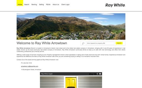 Screenshot of Home Page Site Map Page rwarrowtown.co.nz - Ray White Arrowtown - Real Estate Agency for Arrowtown and  surrounding rural areas, Central Otago, NZ - captured Oct. 6, 2014