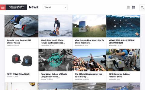 Screenshot of Press Page flexfit.com - News - Flexfit / Yupoong - captured Jan. 16, 2016