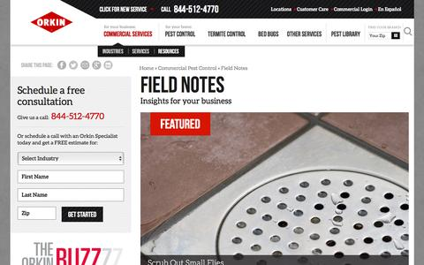 Screenshot of Blog orkin.com - Field Notes - Orkin - captured May 5, 2017