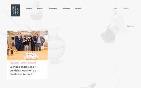 Screenshot of Press Page belvedair.eu - Belvedair — News - captured Oct. 13, 2017