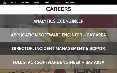 Screenshot of Jobs Page ionicsecurity.com - Careers | Ionic Security - captured July 3, 2015