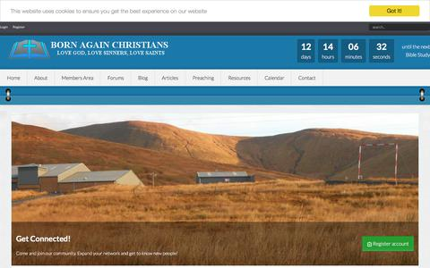 Screenshot of Login Page bornagainchristians.org - Welcome to Members Area - captured Aug. 3, 2018