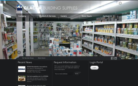 Screenshot of Home Page glacierbuildingsupplies.com - Glacier Building Supplies | Rona based in Revelstoke, British Columbia - captured Oct. 2, 2014
