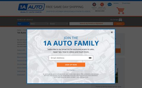 Screenshot of Support Page 1aauto.com captured March 27, 2019