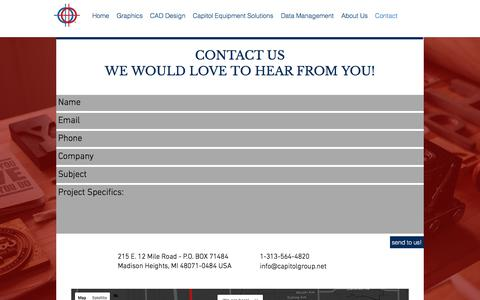 Screenshot of About Page Contact Page capitolgroup.net - The Capitol Group - Madison Heights MI |  Contact - captured Oct. 18, 2017