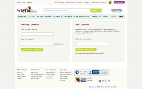 Screenshot of Login Page wayfair.com - Sign In | Wayfair - captured Sept. 10, 2014