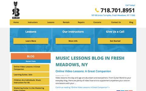 Screenshot of Blog realbraveaudio.com - Real Brave Audio Music Lessons Blog Fresh Meadows, NY - captured Oct. 26, 2017