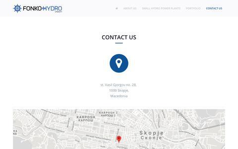 Screenshot of Contact Page fonkohydro.com - Contact Us - Fonko Hydro - captured Aug. 19, 2018