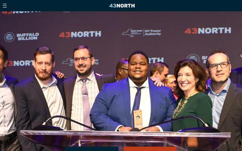 Screenshot of Home Page 43north.org - 43North – Welcome to 43North - captured Nov. 9, 2018
