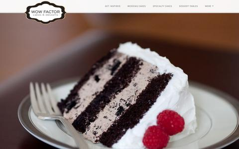 Screenshot of Home Page charlotteweddingcakes.com - The WOW Factor Cakes - captured March 2, 2016