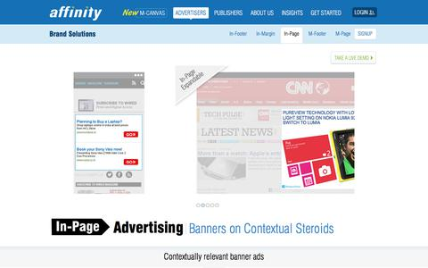 Screenshot of Team Page affinity.com - In-Page Display Advertising - Banners On Contextual Steroids   Affinity - captured Nov. 12, 2019