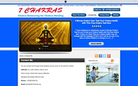 Screenshot of Contact Page 7chakras.org - Contact Me - captured Oct. 27, 2014