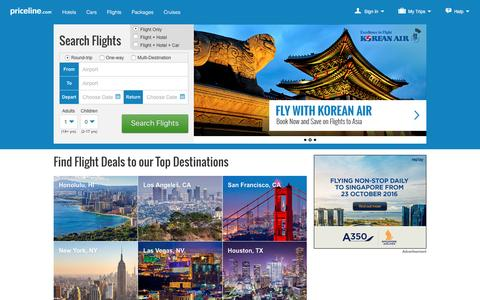 Flights: Find Cheap Flights & Airfares | Priceline