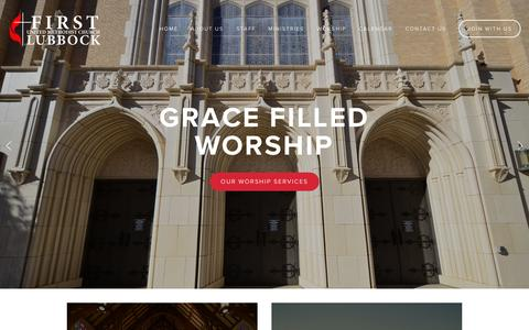 Screenshot of Home Page fumc.com - First United Methodist Church - captured Oct. 6, 2014