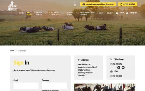 Screenshot of Login Page lklservices.co.uk - Members Login | LKL Services to Agriculture - captured Sept. 25, 2018