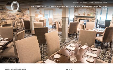 Screenshot of Blog clubcorp.com - Blog | North Hills Country Club - captured Oct. 23, 2018