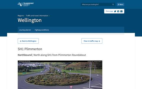Screenshot of Menu Page nzta.govt.nz - Wellington - captured July 5, 2018