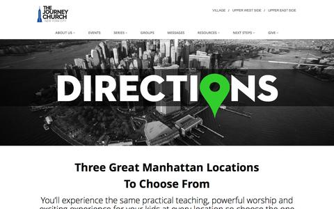 Screenshot of Maps & Directions Page journeynyc.com - The Journey Church – Directions - captured March 1, 2017