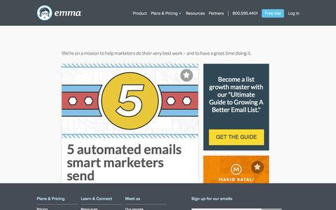 Screenshot of Blog myemma.com - Content Hub   Emma, Inc. - captured Nov. 17, 2015