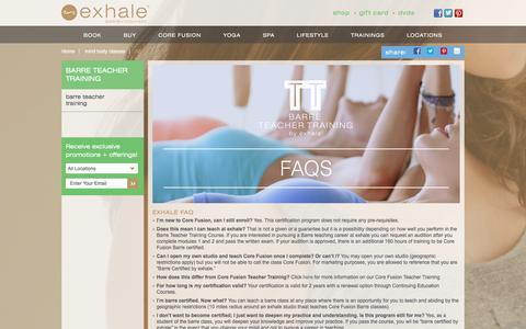Screenshot of FAQ Page exhalespa.com - Fitness Class & Spa FAQ | Mind Body Classes | Exhale - captured Dec. 13, 2015