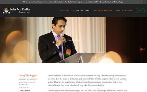 Screenshot of Team Page iotanudelta.org - Leadership — Iota Nu Delta Fraternity, Inc. - captured Nov. 26, 2016