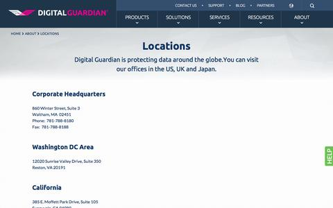 Digital Guardian Locations | Digital Guardian
