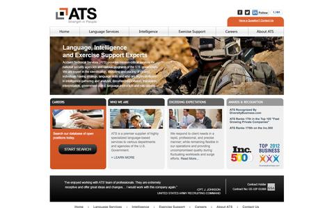 Screenshot of Home Page acclaimtechnical.com - www.acclaimtechnical.com - captured Oct. 4, 2014
