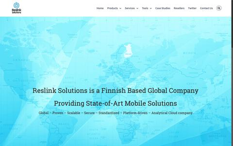 Screenshot of About Page Jobs Page reslink.fi - Company | Reslink Solutions - captured Oct. 20, 2018