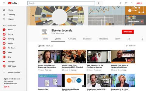 Elsevier Journals - YouTube - YouTube