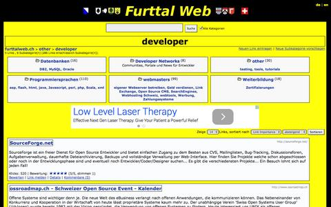 Screenshot of Developers Page furttalweb.ch - furttalweb.ch - other > developer - captured Oct. 31, 2014