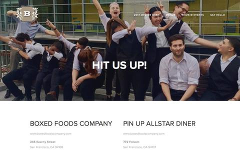 Screenshot of Locations Page bsanfrancisco.com - hit us up! — B Restaurant and Bar San Francisco - captured July 12, 2017