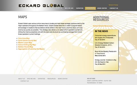 Screenshot of Maps & Directions Page eckardglobal.com - Maps | Eckard Global - captured Oct. 22, 2014