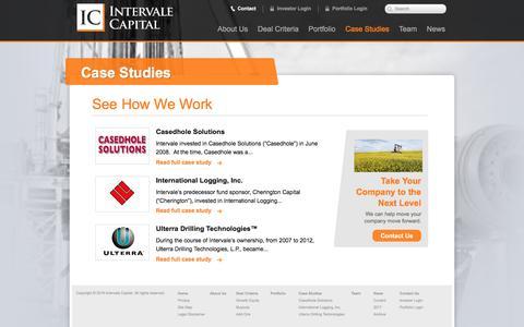 Screenshot of Case Studies Page intervalecapital.com - See How We Work | Intervale Capital - captured Sept. 19, 2018