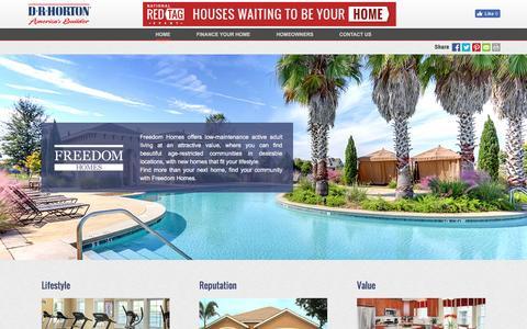 Screenshot of drhorton.com - Freedom Homes | Active Adults - captured July 28, 2016