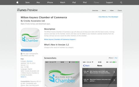 Screenshot of iOS App Page apple.com - Milton Keynes Chamber of Commerce on the App Store on iTunes - captured Nov. 5, 2014