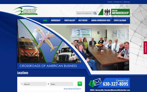 Screenshot of Locations Page bensenvillechamber.com - Locations  : :: Bensenville Chamber of Commerce :: - captured March 5, 2016
