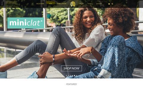 Screenshot of Home Page rastaclat.com - Shoelace Bracelets & Accessories | Rastaclat - captured Jan. 18, 2016