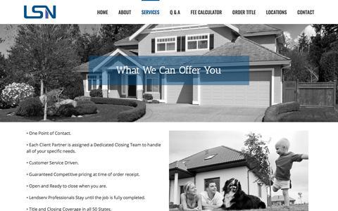 Screenshot of Services Page lendservtitle.com - Services – Lendserv - captured Oct. 10, 2017