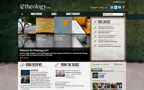 Screenshot of Home Page etheology.com - etheology.com - captured Oct. 3, 2014