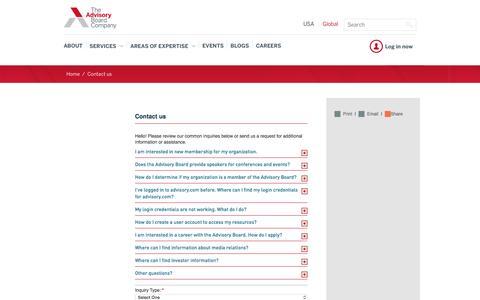 The Advisory Board Company - Contact us