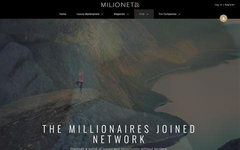 Screenshot of Signup Page miljonet.com - Miljonet - The Millionaires Joined Network - captured Sept. 20, 2018