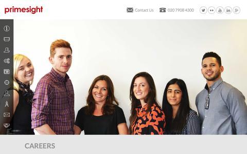 Screenshot of Jobs Page primesight.co.uk - Careers - Primesight - captured Dec. 12, 2015